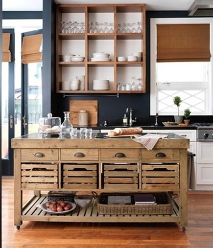 Reclaimed materials are the key ingredient in this vintage look kitchen  work table recipe. Vintage Wood Kitchen Work Table