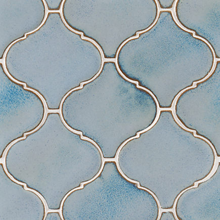 Ann Sacks Nottingham arabesque tile in blue mist