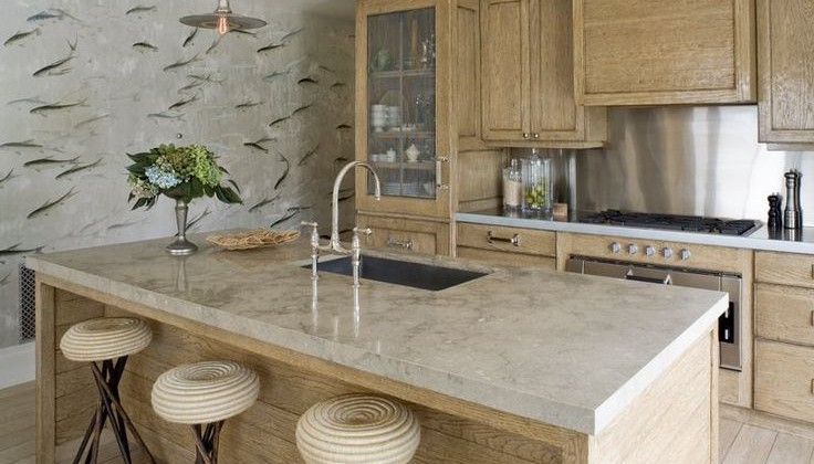 limed oak kitchen cabinets - kitchen by Jeffrey Alan Marks via atticmag
