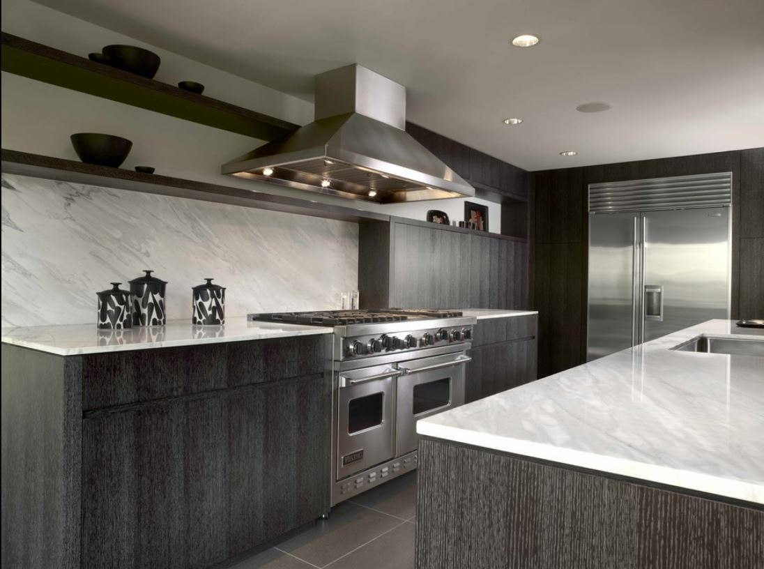 limed oak kitchen cabinets - ebonized oak kitchen by Warmington and North via atticmag