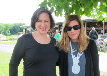 Atticmag editor Jane Freiman at the Country Living Fair with Country Living magazine Editor-in-Chief Sarah Gray Miller - atticmag