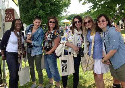 bloggers attending Country Living Fair - atticmag