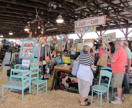 Cash and Cari booth at the Country Living Fair, Rhinebeck, NY  - atticmag