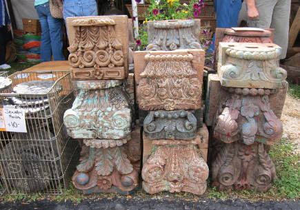 carved Indian temple pediments from Great Stuff by Paul Antiques at the Country Living Fair - atticmag