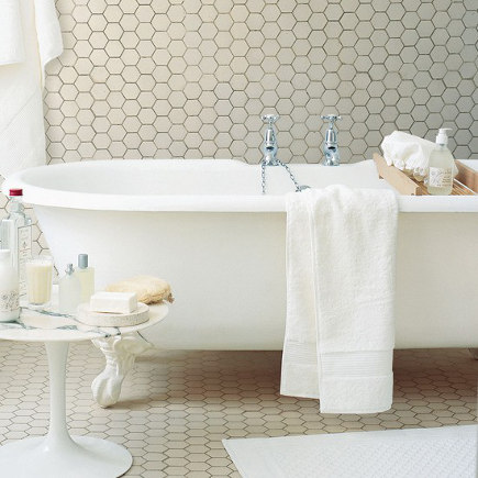With All Over Tiling, Size And Tile Color Help Define The Bathroom Style.