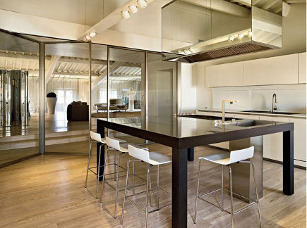 glass wall kitchen by Boffi - corriere della sera via atticmag