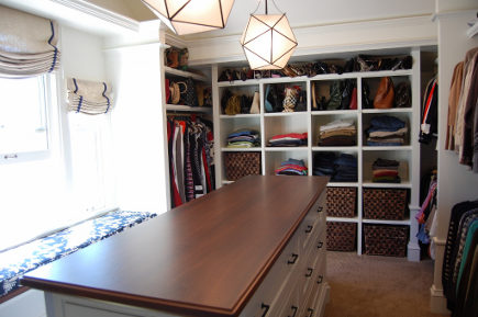 his-and-hers closet in outdated attic transformed into a master bedroom suite - Atticmag