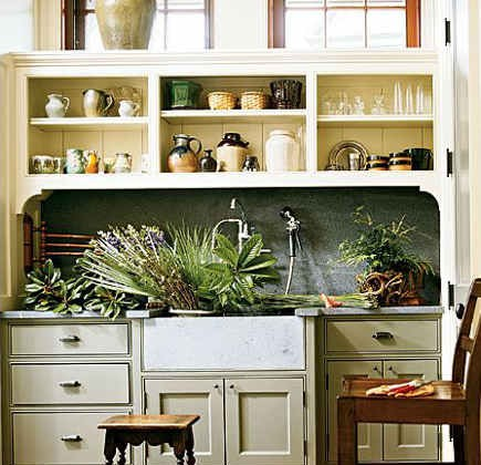 mudroom sinks - mudroom with flower cutting sink - southaccents via atticmag
