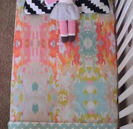 organic bedding for children - cotton crib bedding by Candy Kirby Designs via Atticmag