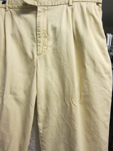 Miele washing machine user guide - chinos with coffee stain removed by Miele washer- Atticmag