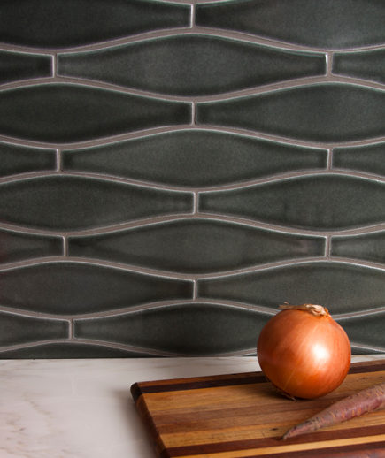 sustainable tiles - Debris Series Recycled Ceramic Tile Wave pattern by Fireclay Tile via Atticmag