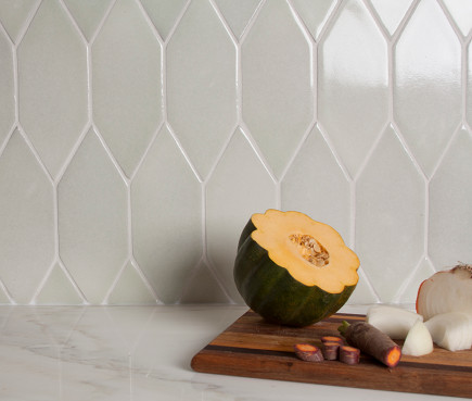sustainable tiles - Debris Series Recycled Ceramic Tile Picket pattern by Fireclay Tile via Atticmag