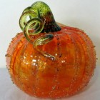 Glass Pumpkins for Fall