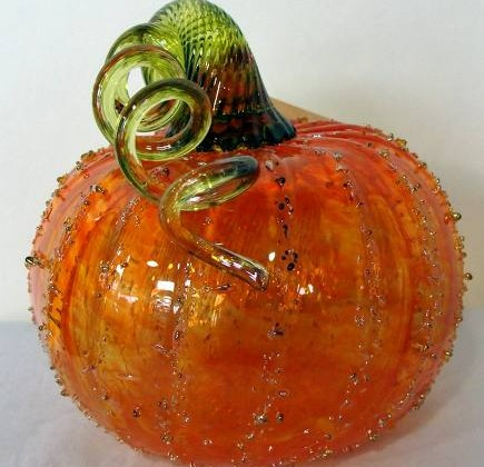 hand-blown glass pumpkin from Northwest Glass Pumpkins via Atticmag
