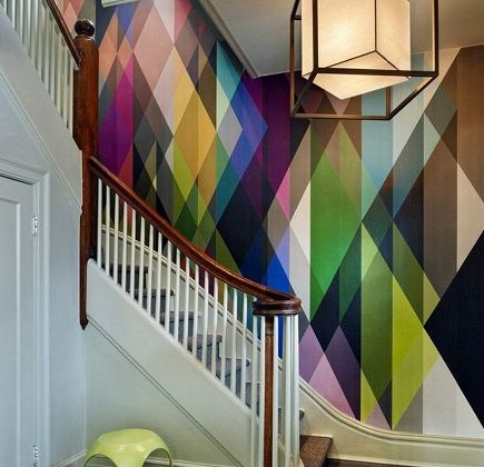 geometric wallpaper - multi-color geometric Circus wallpaper by Cole & Son via Atticmag
