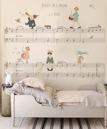 music score chidrens wallpaper by Little Hands via Atticmag
