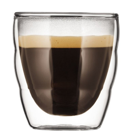 high tech home- Pilatus Insulated espresso glass ware - Bodum via atticmag