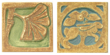 Gingko and Rabbit Batchelder Reproduction Tiles - LACMA via Atticmag