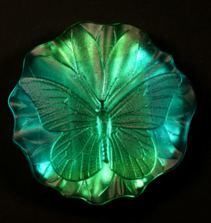 Butterfly Dichroic Art Glass Paperweight  - Museum of Fine Arts Boston via Atticmag