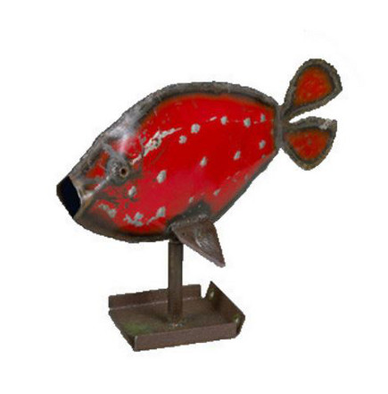 Metal Fish Sculpture - American Folk Art Museum via Atticmag