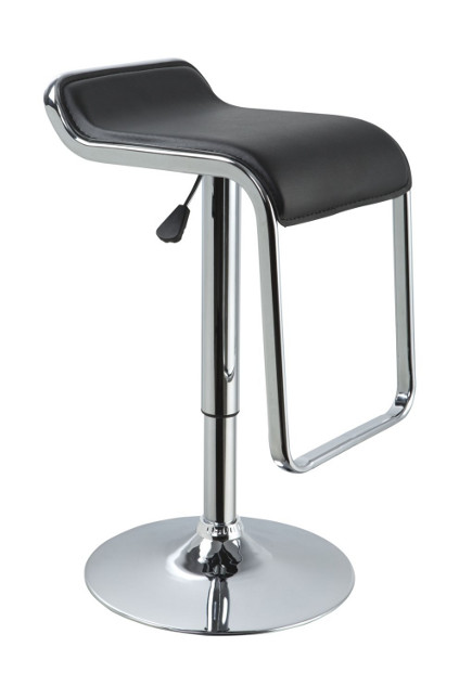 eco-leather black contemporary bar stool – lafurniturestore.com via Atticmag
