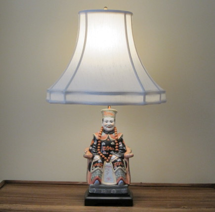 chinoiserie lamp with 40 watt replacement LED bulb - Atticmag