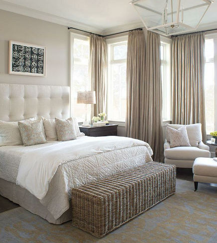 neutral bedroom decor - Wayne Windham Architects via Atticmag