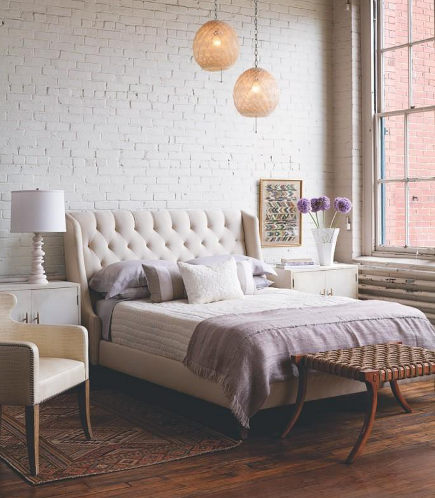 Neutral Bedroom Decor With Lavender Accents   Es.paperblog Via Atticmag