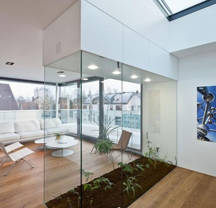 interior greenhouse in a Luxemberg loft - Metaform via Atticmag