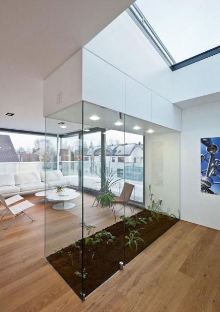 interior greenhouse in a Luxemberg loft - Metaform via Atticmag