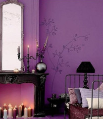 radiant orchid bedroom