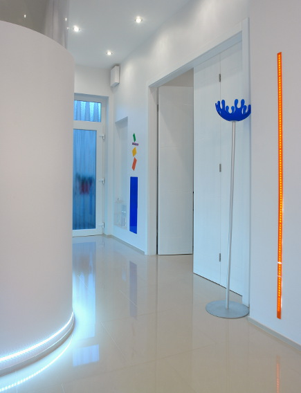 led baseboard lighting. Color Block Decor - Hallway In White Minimalist Apartment Budapest Margeza Via Contemporary LED Lighting Led Baseboard