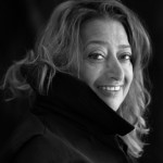 Zaha Hadid - photo by Brigette Lacombe - Salone del Mobile via Atticmag