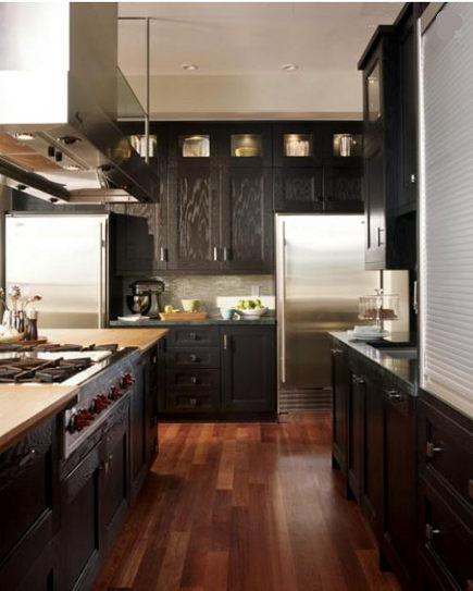 Trend ebonized oak cabinets in neo Craftsman kitchen u debratoney via Atticmag