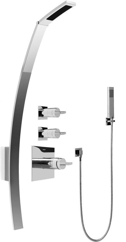 Graff's Luna thermostatic mixer shower system - Graff via Atticmag