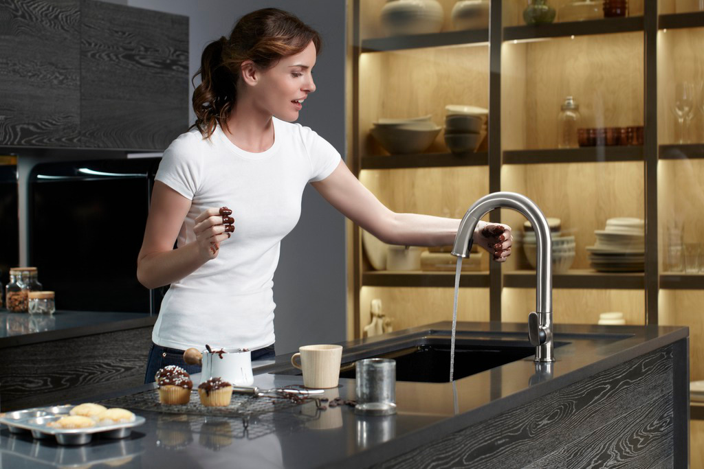 Just Wave Above Or Below A Hands Free Kitchen Sensor Faucet To Turn The Water On Or Off