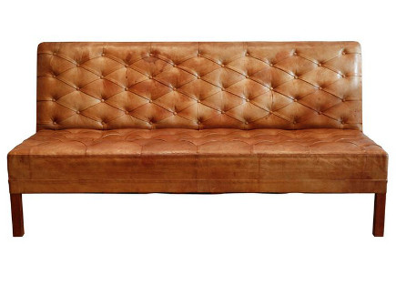 Kaare Klint Danish tufted leather banquette sofa, 1930 – Galerie Half via Atticmag