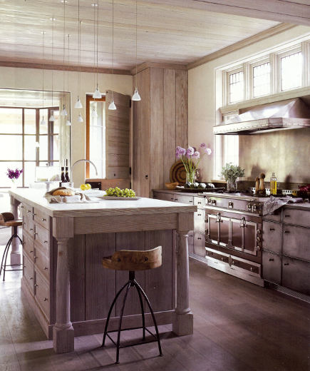 tone-on-tone kitchen by John Saladino - Veranda via Atticmag