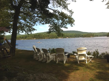 View from the back of the Maine Lake Camp - Atticmag