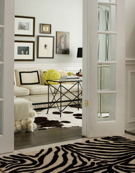 zebra print hall carpet in Irene Langlois' Ottawa home – hgtvca via Atticmag