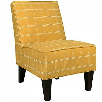 Dover armless chair in mimosa yellow square – Angelo Home Store via Atticmag
