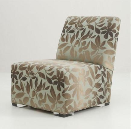 eva slipper chair on acrylic legs u2013 allanknight via atticmag