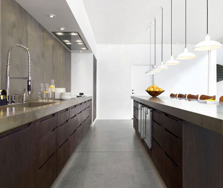 4 unusual kitchen ideas - Recessed range ventilation in Fritz Hansen Copenhagen showroom kitchen – desiretoinspire via Atticmag