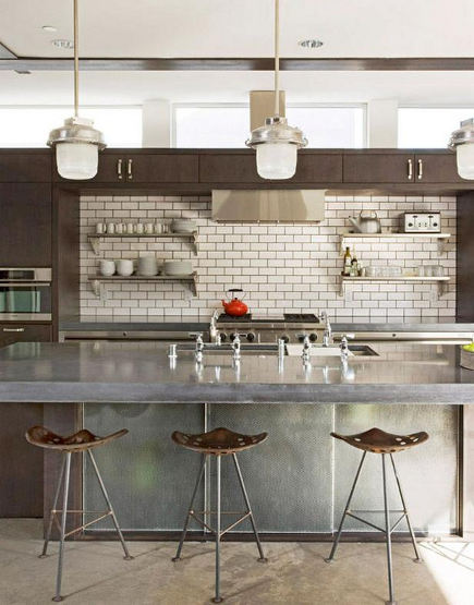 Charming 4 Unusual Kitchen Ideas   Loft Kitchen With Soffit Cabinets U2013 Hgtv Via  Atticmag