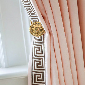 Greek key tape is a leading edge decorative drapery detail