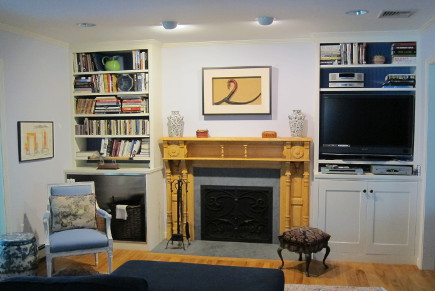 LED light bulbs - eyeball accent lights in the tv room - Atticmag