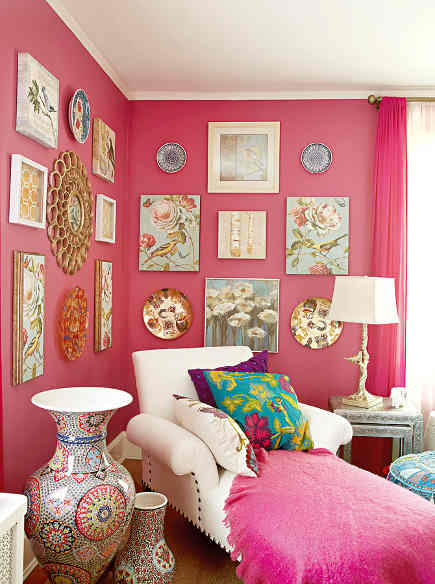 shocking pink rooms - shocking pink mom cave - homegoods via atticmag