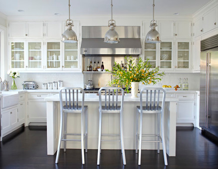 updating white kitchens - generic white kitchen - robert stiles architecture via atticmag