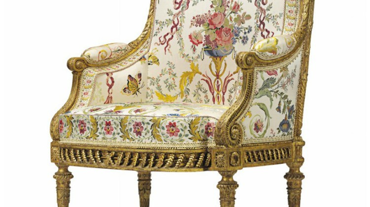 marie antoinette armchair - Marie Antoinette's giltwood Louis XVI armchair - Christie's via Atticmag