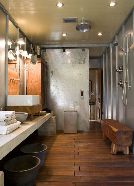 The Sliding Door Trend Is In Full Swing With Bathroom Barn Doors Showing Up  In Style. Part 56